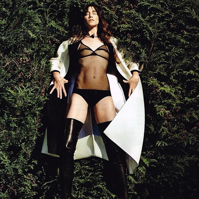 5c7e9f88a1 Charlotte Gainsbourg in Vanity Fair Italy wearing Yasmine Eslami