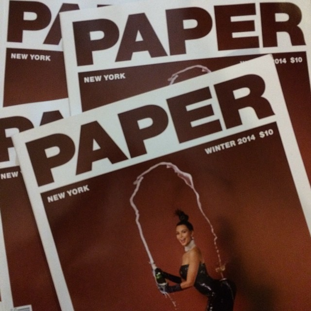 It's here ! The new PAPER in paper , looks better in real and allways a great read @papermagazine #papermagazine  @kimpaper