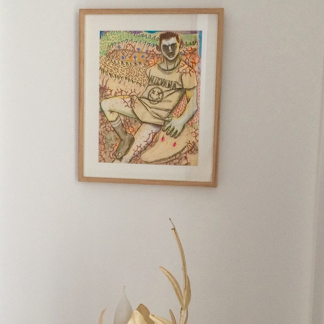 framed and hung #gioblackpeter #theyearofthecrocodile #newhome #inmyroom #artist #hung #paris9