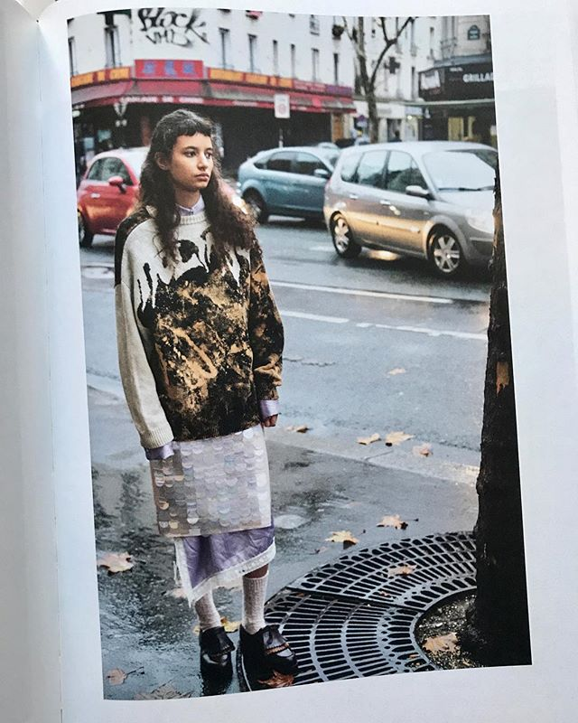 in Paris from the catwalk to the streets , big sequins and leather dress from DROMe #ss19 designed by @mariannarosati featured in @purplefashionmagazine photographed by #andersedström and styled by @delphinedanhier @drome_official #dromeofficial #purplemagazine #publicimagepr #leather #sequins #styling #parisfashionweek #madeinitaly #print #magazine #fashion