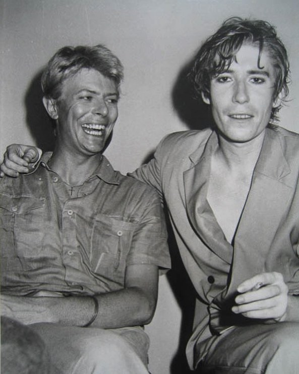 #davidbowie #richardbutler #love #my #way it's a new road I follow where my mind goes #psychedelicfurs #icons #menswear
