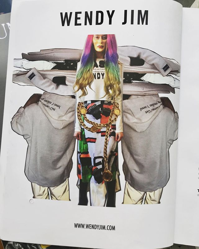 WENDY JIM ad page featured in the last issue of @apartpublications @wendyjim_official #wendyjim thank you @guillaumeboulez @pascallappart #ss19 #designers #parisfashionweek #print #magazine #creative #publicimagepr