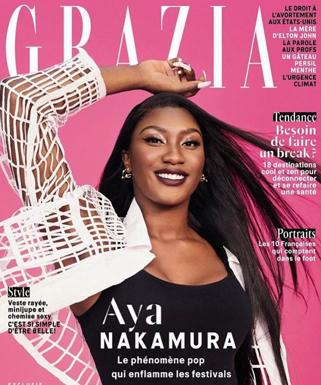 @ayanakamura_officiel on the cover of the new issue of @grazia @grazia_fr wearing a cage jacket by Marta Martino @martamartino_off thank you @chloe__para ?#cover #ayanakamura #martamartino #publicimagepr #designer #grazia #cage #madeinitaly #creative #styling