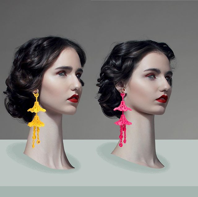 DIANA LAW 3D printed accessories fall-winter 19/20 campaign @dianalawprintedaccessories #dianalawprintedaccessories #dianalaw #3dprinting #accessoires #technology #publicimagepr #campaign #future #couture