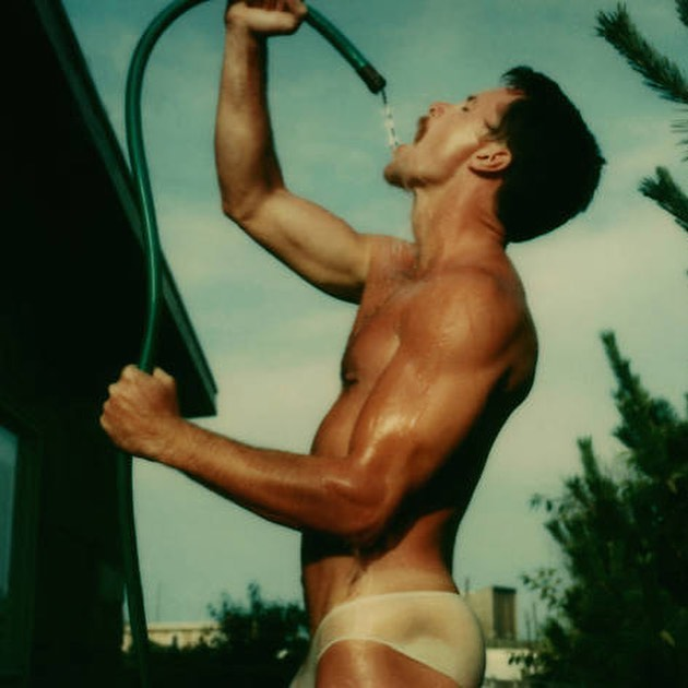 #heatwave #holidays one of my favorite books  #tombianchi #polaroid #fireisland #thepines #gay #punk #queen #queer #art #photography #speedo #bulge #sexy #men