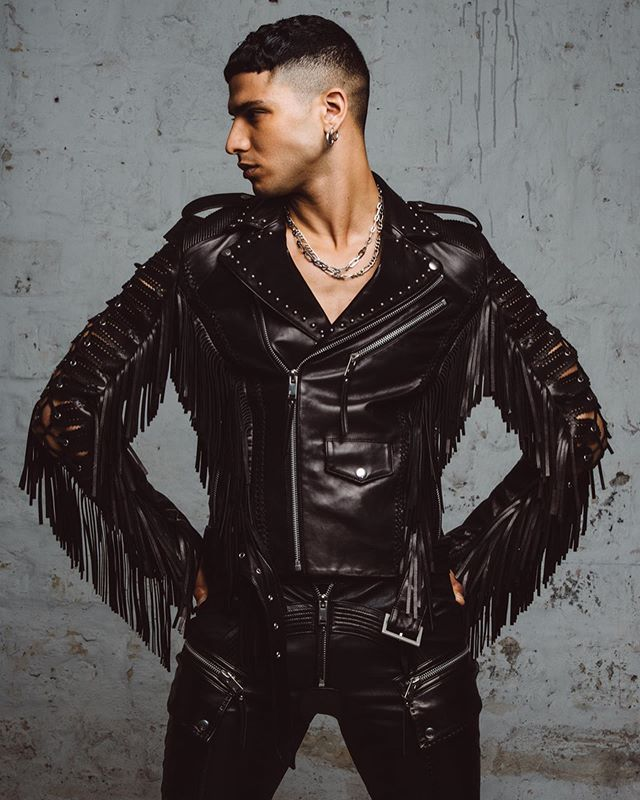 CHRISTOPHE TERZIAN spring/summer 2020 Menswear photographed by @floriansaez model @chamsedenmoussa styling by @romualdpremier @christopheterzian #christopheterzian #leather #embellished #embroidered #menswear #couture #ss2020 #parisfashionweek #publicimagepr #frenchdesigner #super #hot #sexy