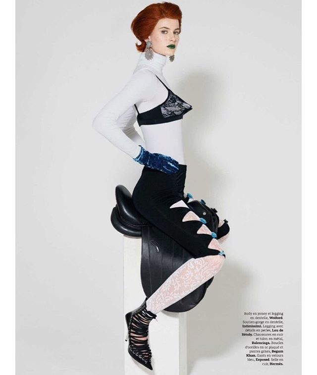 Lou de Betoly cut up embroidered leggings featured in the last issue of @stylistfrance photographed by @patrickjacksonphotographer styled by @casadevallbelen ? @loudebetoly #loudebetoly #publicimagepr #magazine #free #image #great #styling
