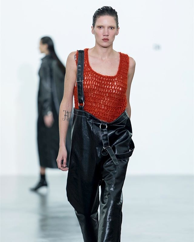 #throwback Tamy Glauser walking for WEER at @modesuisse , wearing a hand knit mohair tank top , a staple piece of the Swiss brand created by Karin Lorez and based in Zurich @weer_house @tamynation #weer #weerhouse #swiss #brand #handknit #artesanal #sustainablefashion #reclaimed #publicimagepr #tamyglauser #coolgirl #topmodel